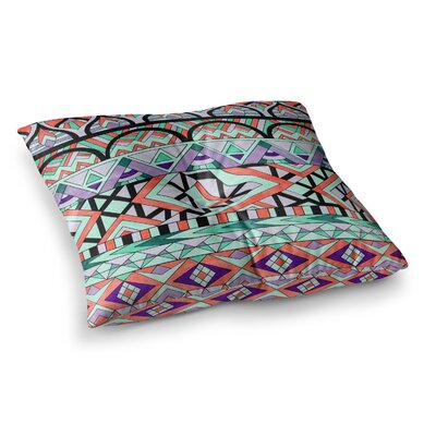 Pom Graphic Design Tribal Invasion Abstract Square Floor Pillow Size: 23 x 23