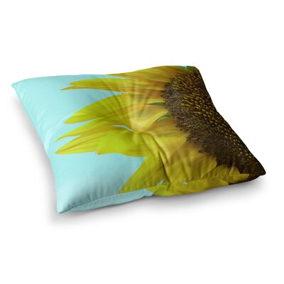 Richard Casillas Sunflower Mint Square Floor Pillow Size: 23 x 23
