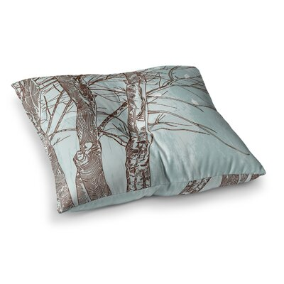 Sam Posnick Winter Trees Square Floor Pillow Size: 26 x 26