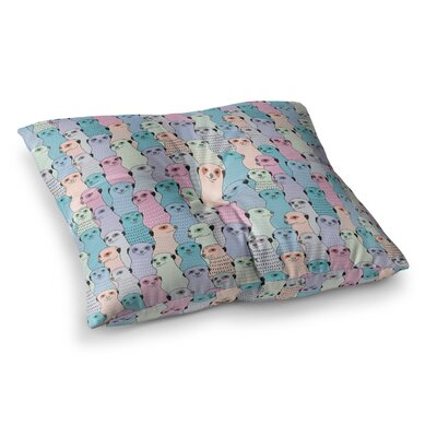 Skye Zambrana Silhouette Square Floor Pillow Size: 23