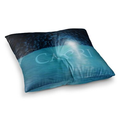 Theresa Giolzetti The Grotto Of Capri Square Floor Pillow Size: 23