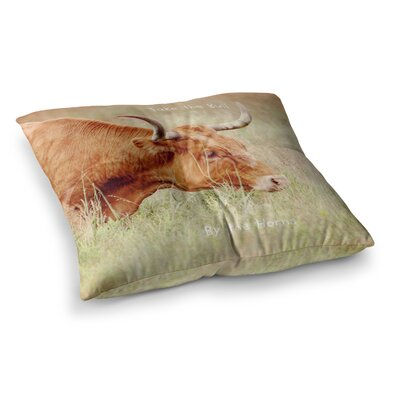 Sylvia Coomes Take The Bull By The Horns Square Floor Pillow Size: 26 x 26