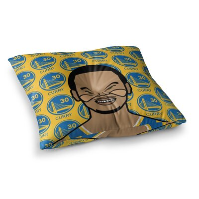 Will Wild Steph Curry Sports Square Floor Pillow Size: 26 x 26