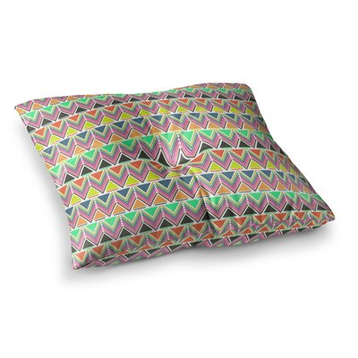 Nandita Singh Pattern Play Multi Rainbow Chevron Square Floor Pillow Size: 26 x 26