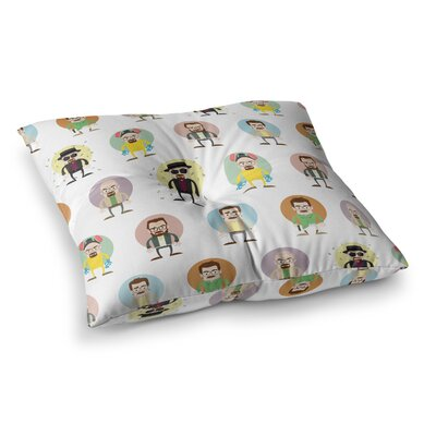 Juan Paolo The Stages of Walter Breaking Bad Square Floor Pillow Size: 23 x 23