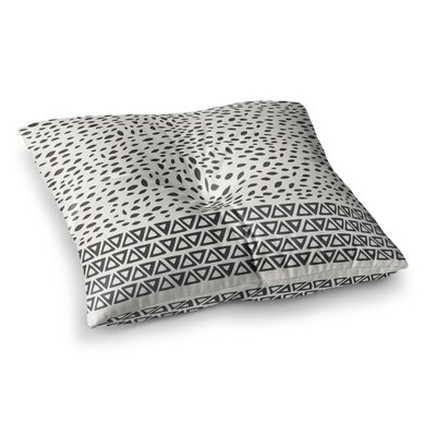 Pom Graphic Design Wind Day Square Floor Pillow Size: 23 x 23, Color: White