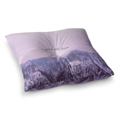 Suzanne Carter Wild and Free 2 Digital Square Floor Pillow Size: 26 x 26
