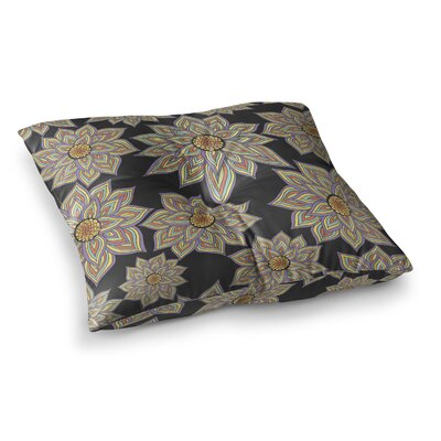 Pom Graphic Design Floral Dance Size: 23 x 23, Color: Black