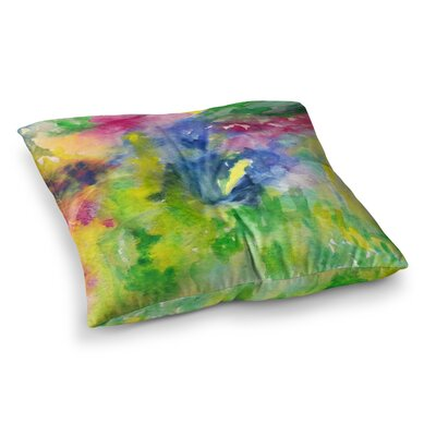 Rosie Brown Natures Palette Watercolor Painting Square Floor Pillow Size: 23 x 23