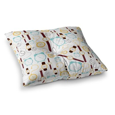Stephanie Vaeth Clocks Square Floor Pillow Size: 26 x 26