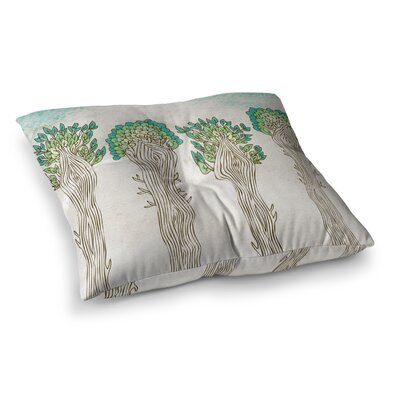 Pom Graphic Design Amazon Trees Square Floor Pillow Size: 26 x 26