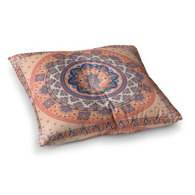 Nandita Singh Mandala Magic Digital Ethnic Square Floor Pillow Size: 26 x 26