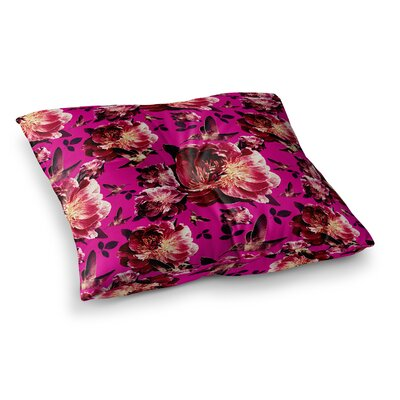 Shirlei Patricia Muniz Floral Magenta Photography Square Floor Pillow Size: 26 x 26