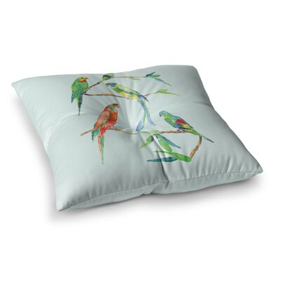 Sonal Nathwani Parrot Party Square Floor Pillow Size: 26 x 26