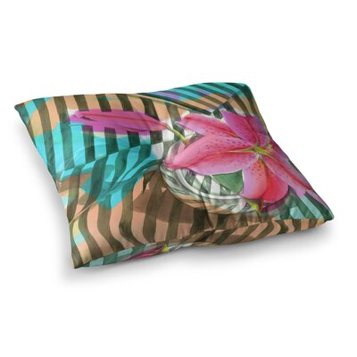 S. Seema Z Lilly n Stripes Square Floor Pillow Size: 26 x 26