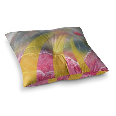 Infinite Spray Art Enlightening Square Floor Pillow Size: 26 x 26