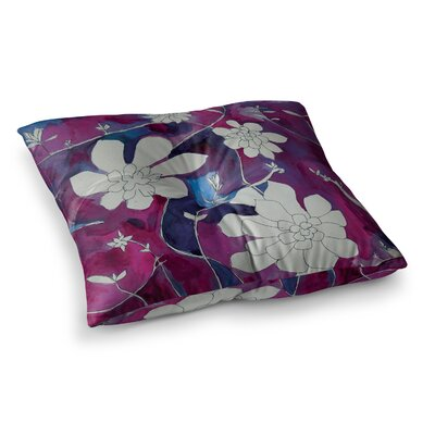 Theresa Giolzetti Succulent Dance II Square Floor Pillow Size: 26 x 26, Color: Purple