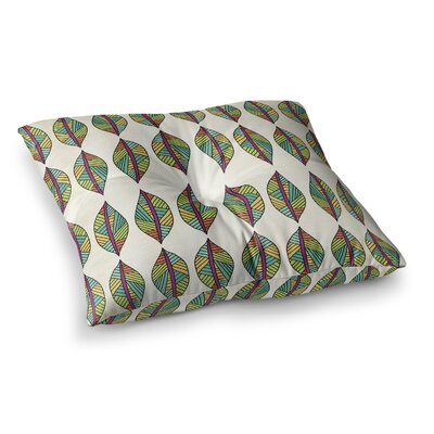 Pom Graphic Design Tribal Leaves Square Floor Pillow Size: 23 x 23