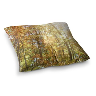 Sylvia Coomes Autumn Trees 2 Square Floor Pillow Size: 26 x 26
