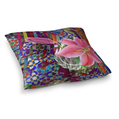 S Seema Z Lily Explosion Square Floor Pillow Size: 23 x 23