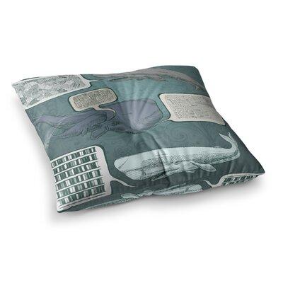 Sophy Tuttle Whale Talk Square Floor Pillow Size: 26 x 26