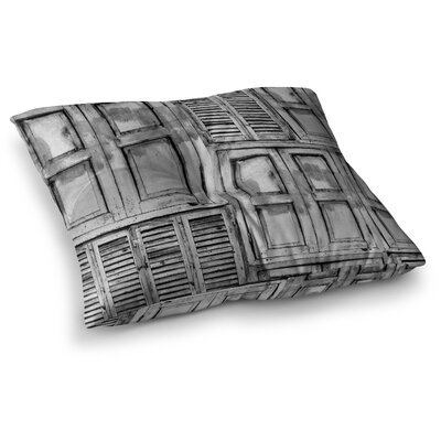 Snap Studio Close the Door Square Floor Pillow Size: 26 x 26