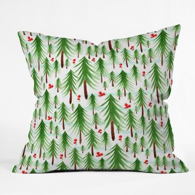 Heather Dutton Christmas Tree Farm Euro Pillow