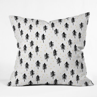 Little Arrow Co Winter Pines Euro Pillow
