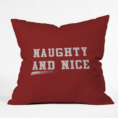 Leah Flores Naughty and Nice Throw Pillow Size: 16 x 16