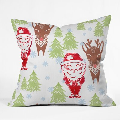 Dash and Ash Best Bros from the North Pole Throw Pillow Size: 20 x 20