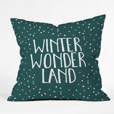 Zoe Wodarz Winter Wonder Throw Pillow Size: 18 x 18