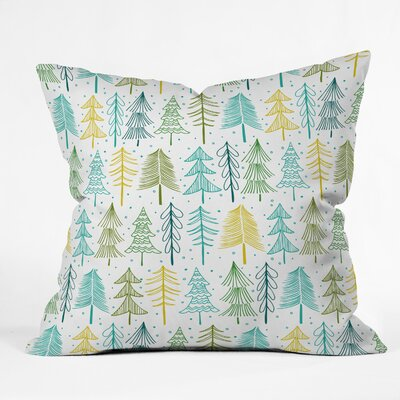 Heather Dutton Oh Christmas Tree Frost Throw Pillow Size: 16 x 16