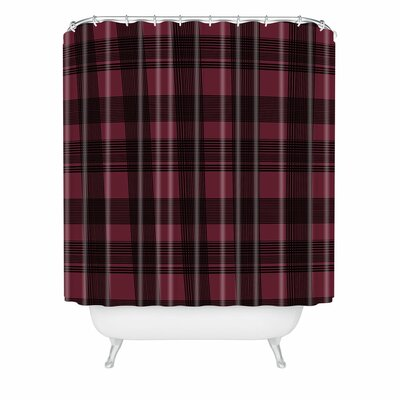 Gabriela Fuente Shower Curtain Size: 72 H x 69 W, Color: Red