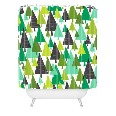 Heather Dutton Winter Woods Shower Curtain Size: 90 H x 69 W