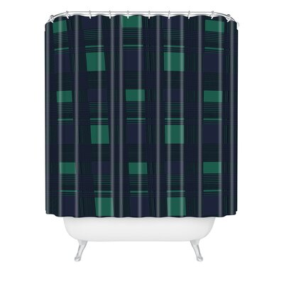 Gabriela Fuente Shower Curtain Size: 72 H x 69 W, Color: Green