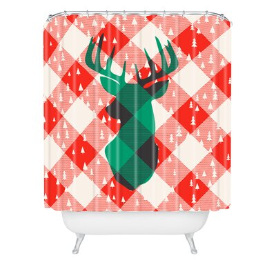 Zoe Wodarz oh Deer Me Shower Curtain Size: 90 H x 69 W