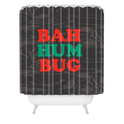 Zoe Wodarz Bah Humbug Shower Curtain Size: 90 H x 69 W