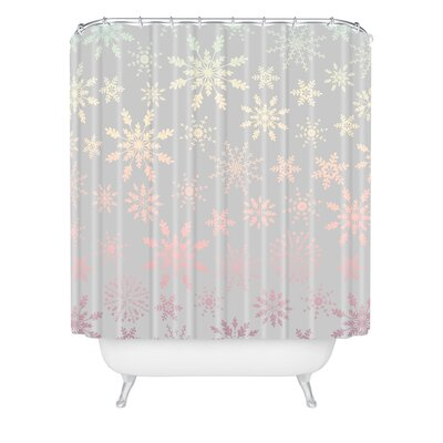 Iveta Abolina Lapland Shower Curtain Size: 90 H x 69 W