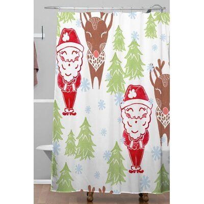 Dash And Ash Best Bros from The North Pole Shower Curtain Size: 72 H x 69 W