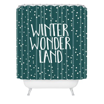 Zoe Wodarz Winter Wonder Shower Curtain Size: 90 H x 69 W