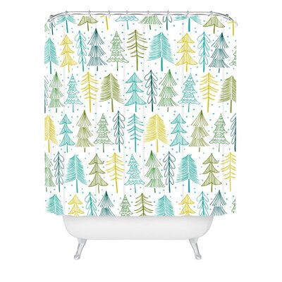 Heather Dutton oh Christmas Tree Frost Shower Curtain Size: 72 H x 69 W