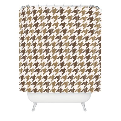 Allyson Johnson Classy Houndstooth Shower Curtain Size: 90 H x 69 W