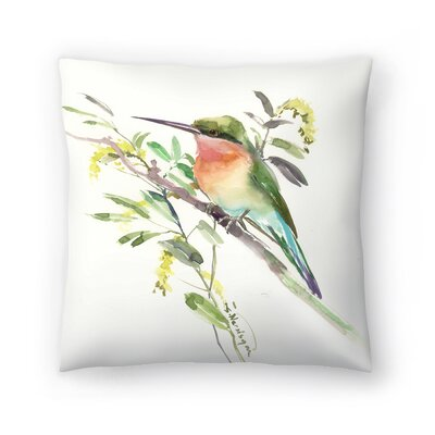 Suren Nersisyan Bee Eater 2 Throw Pillow Size: 18 x 18