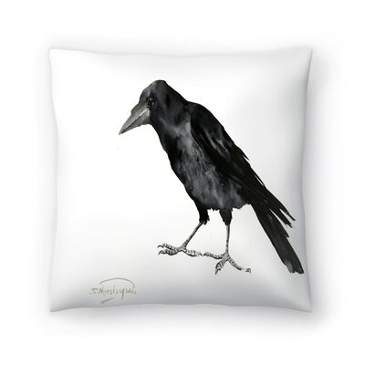 Suren Nersisyan Crow Throw Pillow Size: 14 x 14