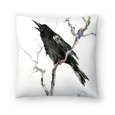 Suren Nersisyan Crow 2 Throw Pillow Size: 18 x 18