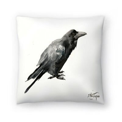 Suren Nersisyan Crow 3 Throw Pillow Size: 20 x 20