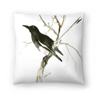 Suren Nersisyan Magpie 2 Throw Pillow Size: 18 x 18