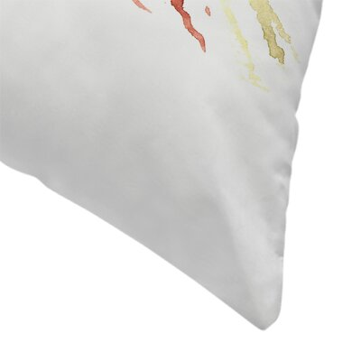 Suren Nersisyan American finch Songbird Throw Pillow Size: 18 x 18