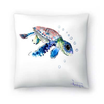 Suren Nersisyan Baby Sea Turtles 1 Throw Pillow Size: 18 x 18