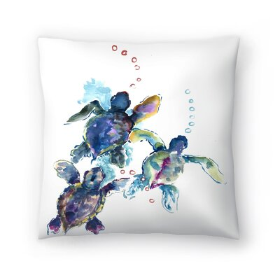 Suren Nersisyan Baby Sea Turtles 3 Throw Pillow Size: 14 x 14
